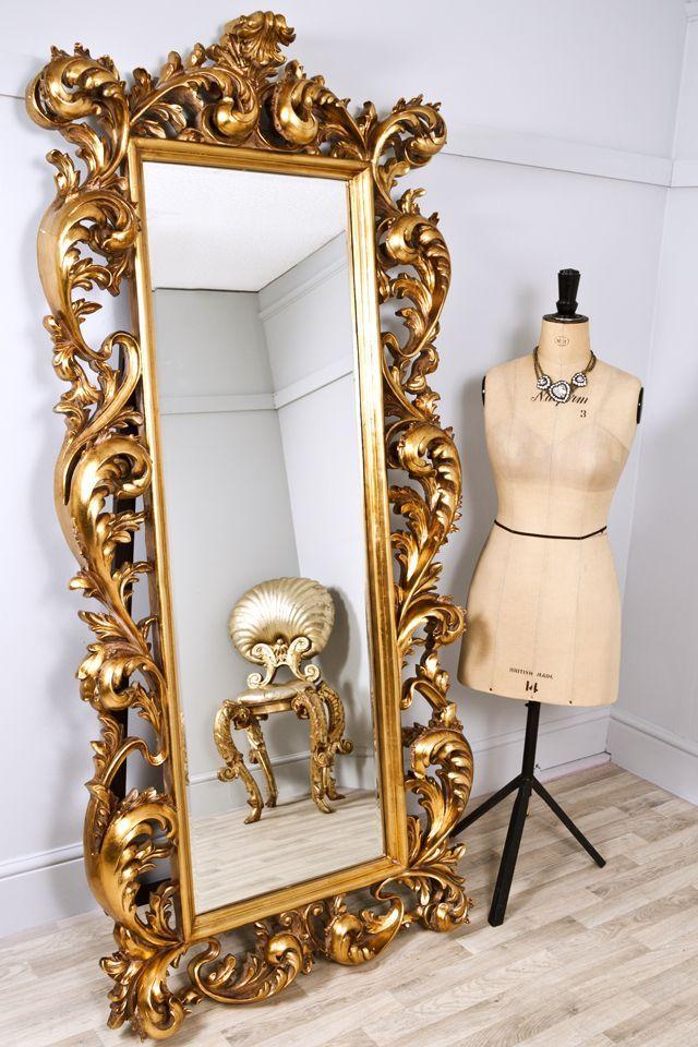 Large Decorative Flower Pots: Extra Large Decorative Gold Rococo Mirror