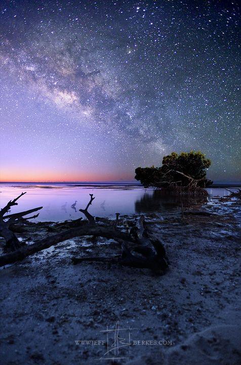 New Beginnings ... the Milky Way rises over the lower Florida Keys near Marathon Key.   by Jeff Berkes on 500px