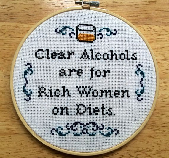 PATTERN Ron Swanson Quote Clear Alcohols Are For Rich Women on