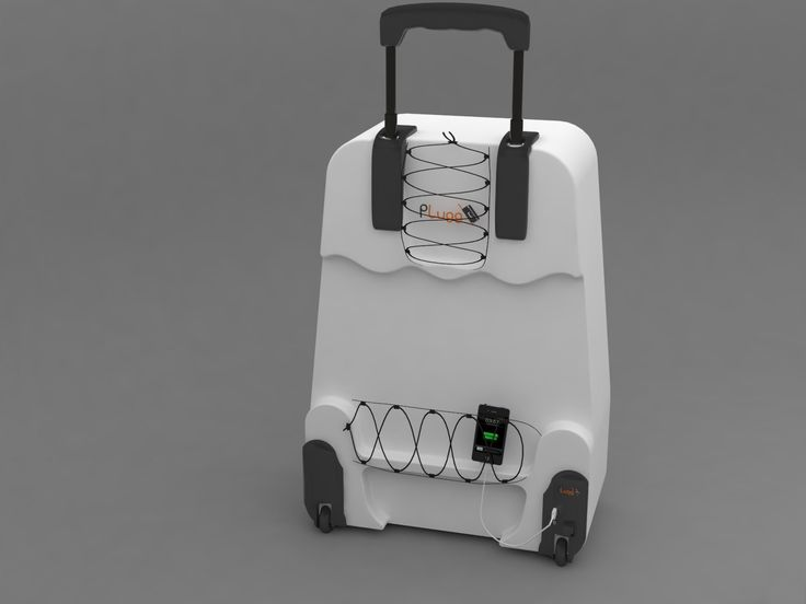 PLugg #Travel #Luggage that integrate a #battery  #charger in the wheel. And uses the rolling motion of the wheel to charge your devices.   http://www.p-lugg.com http://www.facebook.com/pluggcharger http://twitter.com/PluggBattery