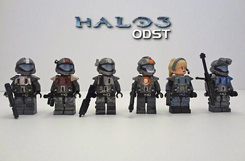 Halo 3 ODST Squad Custom Minifigures. SHUT UP & TAKE MY MONEY!!!!!!!111!1!