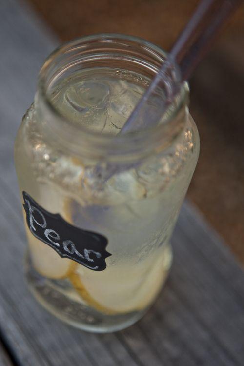 Homemade Pear Italian Soda Syrup with Cardamom Cream | Food for My Family