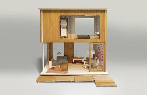Increíble casa de madera para muñecas