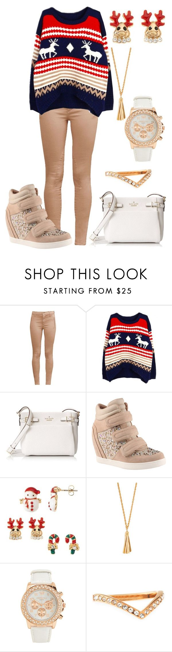 """""""Sans titre #4684"""" by kina-ashley ❤ liked on Polyvore featuring French Connection, Kate Spade, ALDO, BaubleBar, Aéropostale and Vita Fede"""