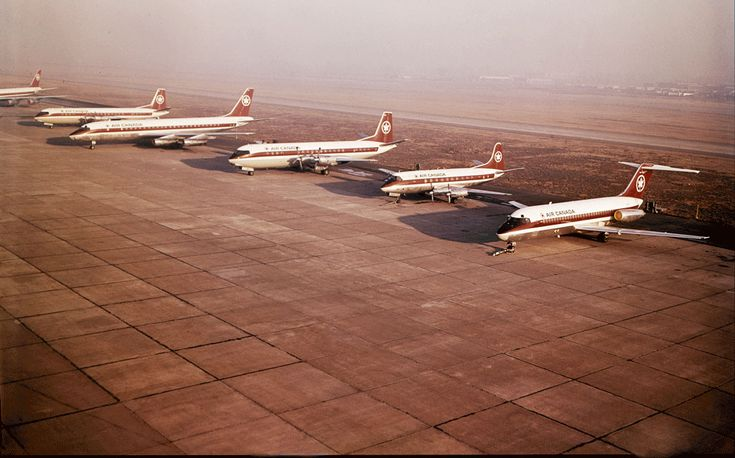 Air Canada aircraft, 1973 - Credit: Air Canada Archives