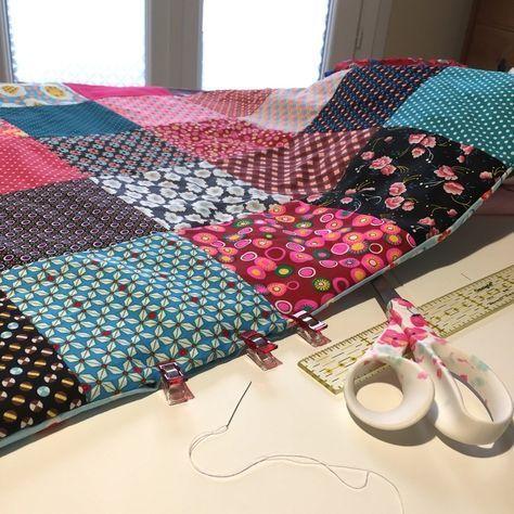 MES couvertures patchwork et le TUTO qui va avec … – Au pays des bulles