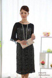 年齢を問わず着られるシックな黒ドレス♡ 披露宴の親族衣装まとめ。二次会や1.5次会の参考にも☆