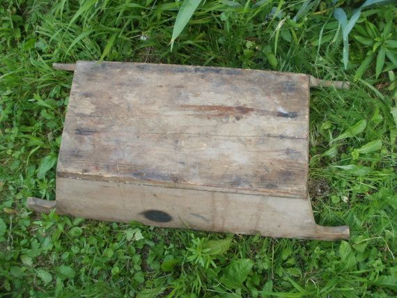 Large wooden planter in rustic style Old wood by VintagePresents