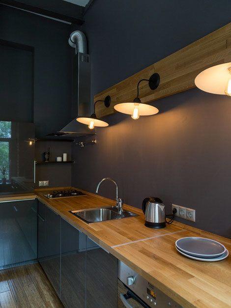 Фотография: Кухня и столовая в стиле Лофт, Квартира, Проект недели, Москва, SPACE4LIFE – фото на InMyRoom.ru