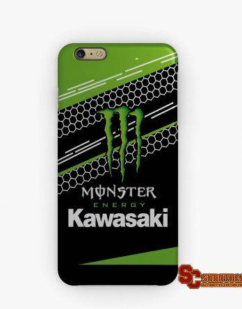 Kawasaki Monster Energy Racing | Apple iPhone 5 5s 5c 6 6s 7 Plus Samsung Galaxy S4 S5 S6 S7 EDGE Hard Case Cover
