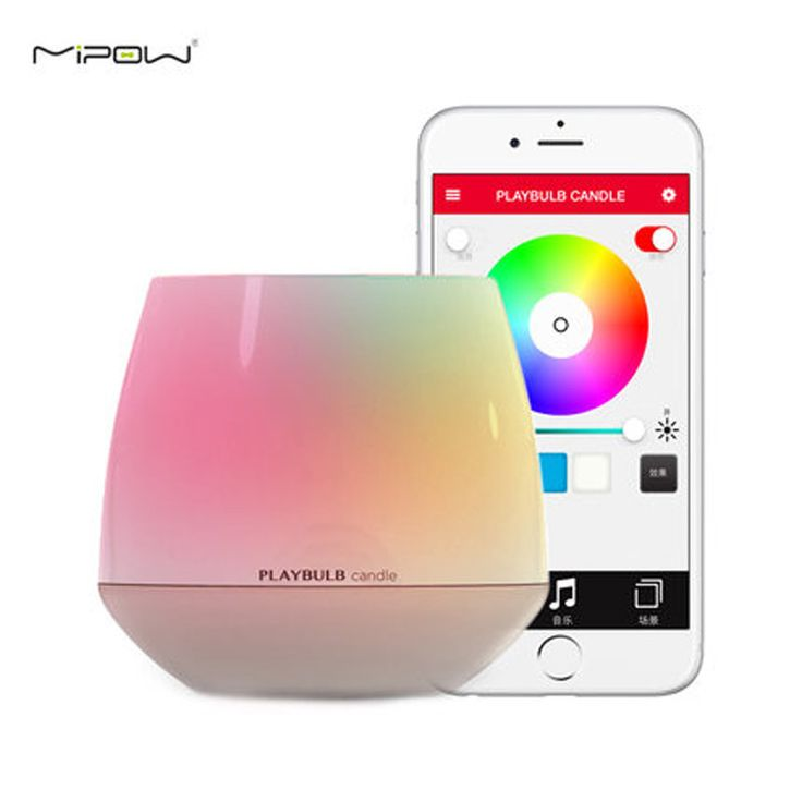 Bluetooth LED Candle Light Creative Wireless Nightlight with APP Control