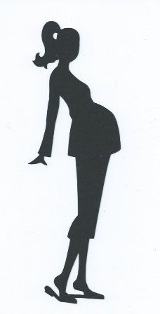 Pregnant lady 3 silhouette by hilemanhouse on Etsy, $1.99