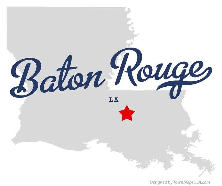 LOUISANA BATON ROUGE Map Of Baton Rouge Louisiana LA US - Us map college logos
