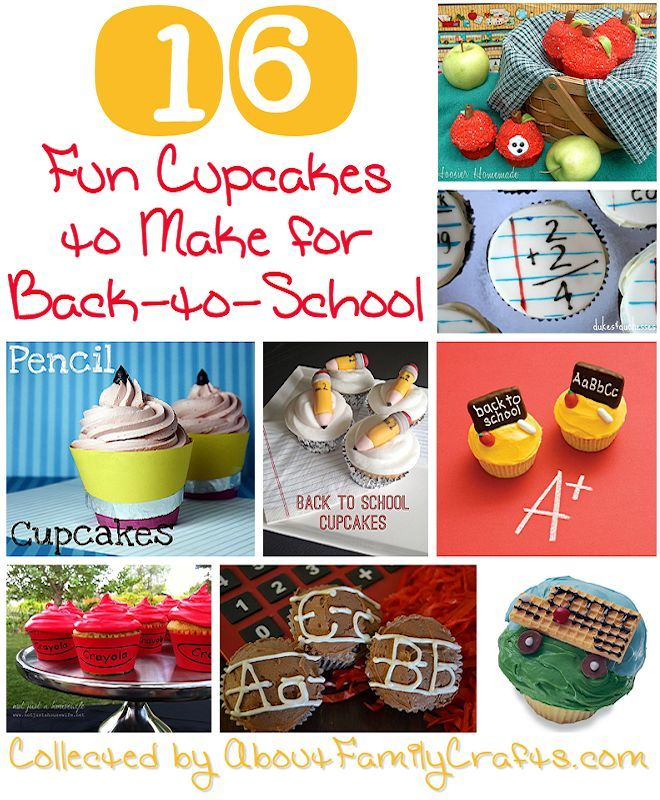 16 Back-to-School Cupcake Ideas | Mother's Home