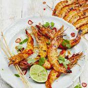 Jamie's Asian-style barbecued prawn racks