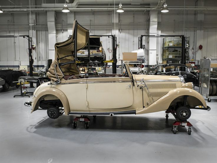 1938 mercedes benz 230 cabriolet b restoration at the for Mercedes benz restoration center
