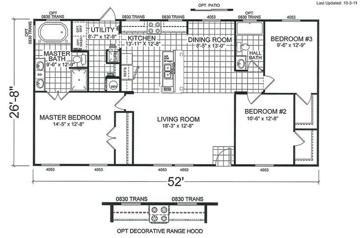 11 best double wide mobile home floor plans images on for 2 bedroom double wide floor plans