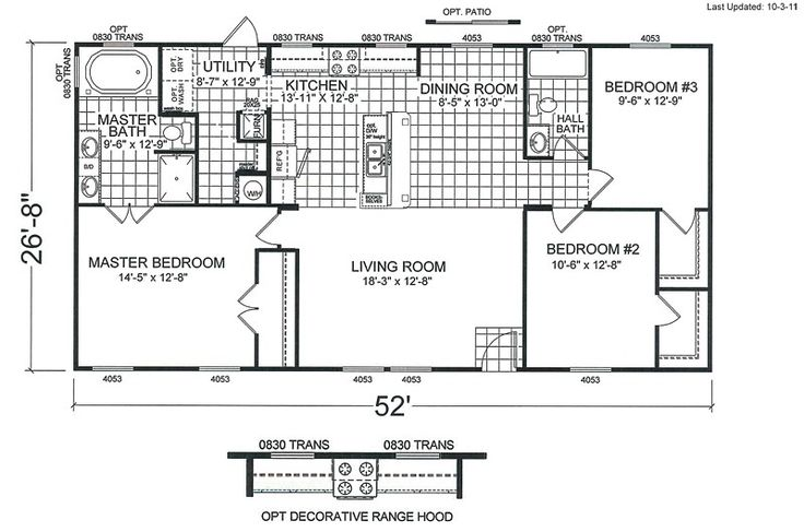 4 bedroom double wide mobile home floor plans http for 4 bedroom mobile home floor plans