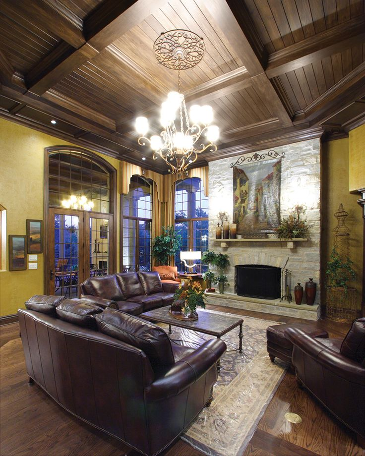 Hearth Room: House Plans, Green Wall Color And Hearth