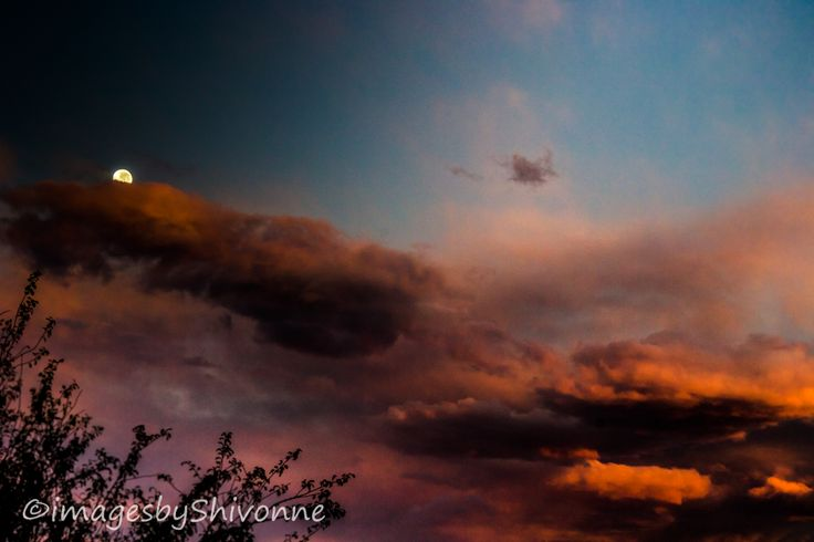 The Moon meets the Sun over Bishopdale, Christchurch on 6 May 2015 at 7.20am.  Lovely sky this morning and I am so pleased to capture it.  #christchurch #sky #autumn #imagesbyShivonne #moon #sun #newzealand #mothernature #orange