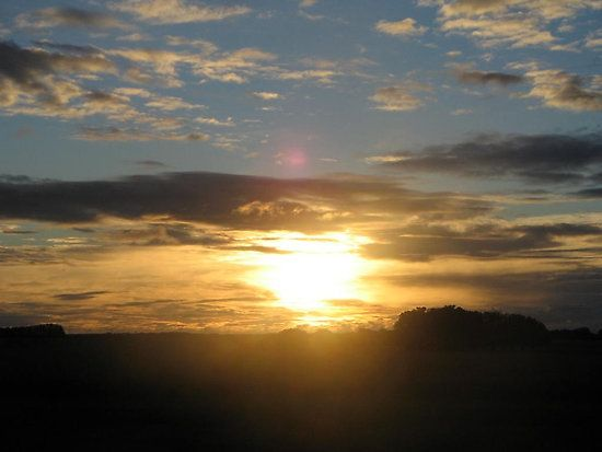 """A 2009 photo connected to a 2014 poem, entitled """"Courage and vulnerability"""", because clouds & sun always inspire me and roadtrips have often presented my favourite sunsets & sunrises. This is one of many I've witnessed between Warrnambool & Ballarat, in the Western District of Victoria, Australia. :)"""