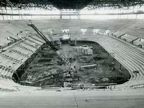 Construction of Joe Louis Arena,  1979