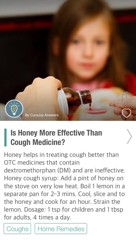 Is Honey More Effective Than Cough Medicine? - via @CureJoy