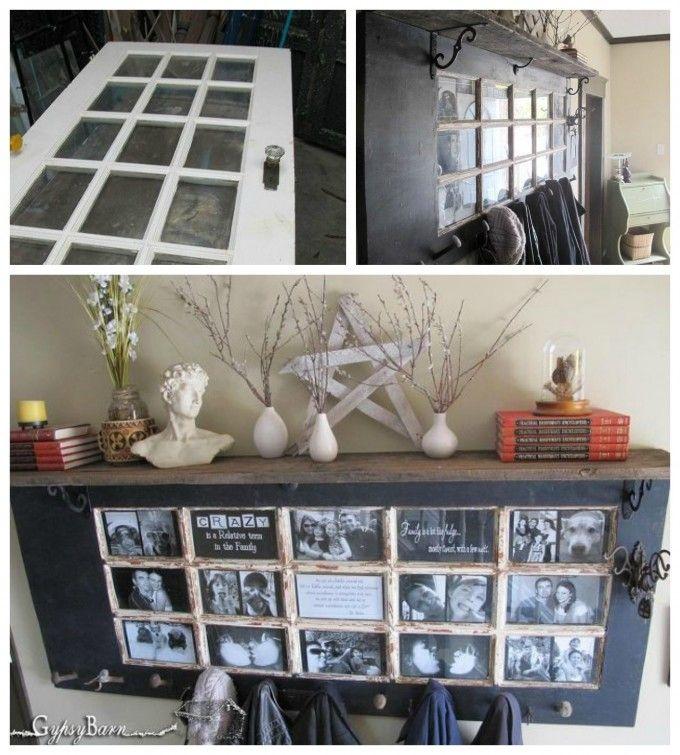 Turn a Old Door into a Hallway Mantel! Love this DIY Upcycle idea!