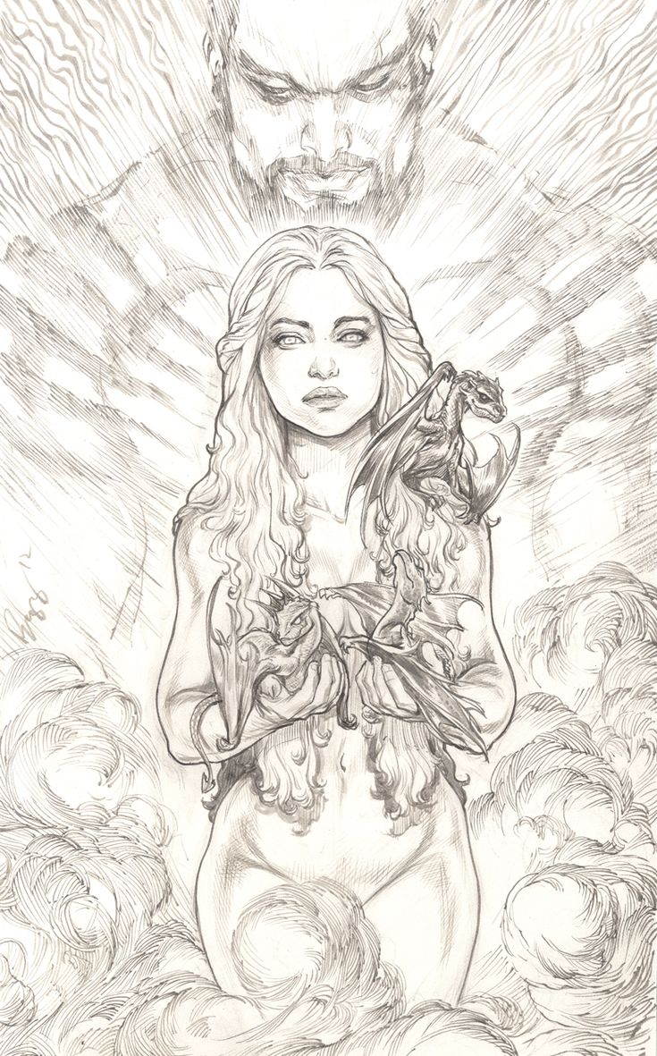 Daenerys Targaryen , Khaleesi by ~justbuzz on deviantART.  Probably one of the most beautiful pieces i've seen.