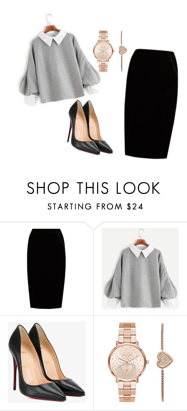 """""""woman work"""" by kiky77 on Polyvore featuring Jupe By Jackie, Christian Louboutin and Michael Kors"""