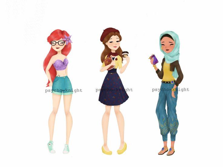 Modern Disney Princesses 2 by Psycho-Knight on DeviantArt