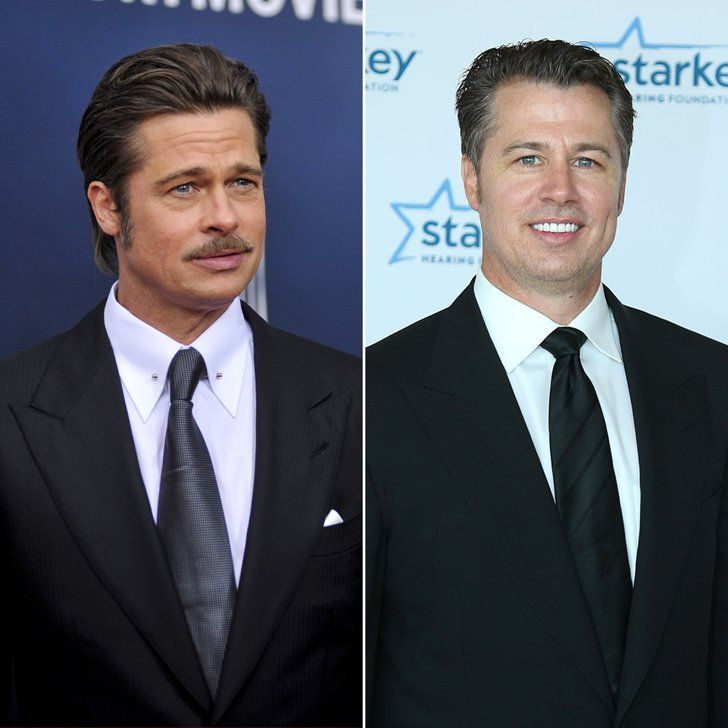 Pin for Later: Celebrity Siblings You Probably Didn't Know About Brad and Doug Pitt