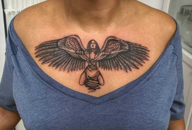 Angel, chef tattoo