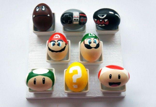 Super Mario Bros (Mario, Luigi, Toad, Yoshi) | 40 Creative Easter Eggs