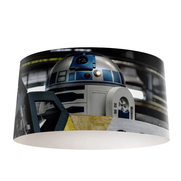 Lampenkap R2-D2 | Bestel lampenkappen voorzien van digitale print op hoogwaardige kunststof vandaag nog bij YouPri. Verkrijgbaar in verschillende maten en geschikt voor diverse ruimtes. Te bestellen met een eigen afbeelding of een print uit onze collectie.  #lampenkap #lampenkappen #lamp #interieur #interieurdesign #woonruimte #slaapkamer #maken #pimpen #diy #modern #bekleden #design #foto #scifi #sciencefiction #science #fiction #sf #starwars #star #wars #robot #r2d2 #robot #film…
