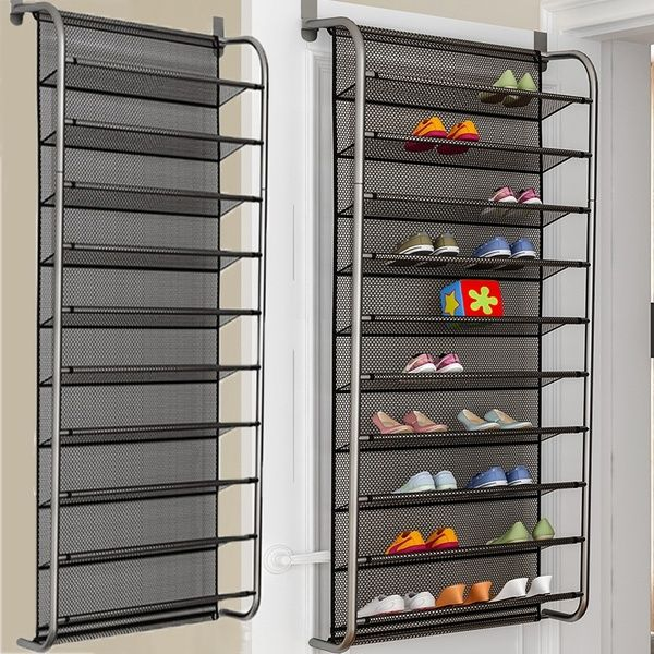 6 Layers 10 Layers Shoes Hanging Shelf 36 Pair Over Door Hanging Shoe Rack Shoes Organizer Wall Mounted Wish In 2020 Hanging Shoe Rack Hanging Shelves Shoe Rack