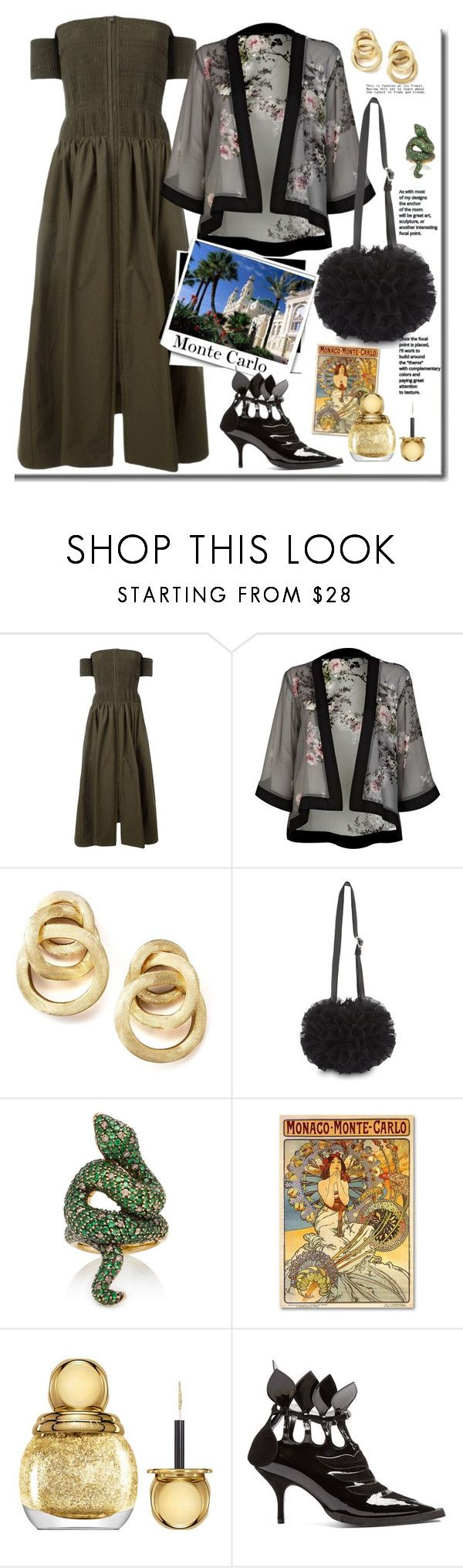 """""""Monte Carlo Travel Outfits"""" by faten-m-h ❤ liked on Polyvore featuring Fendi, River Island, Marco Bicego, Comme des Garçons, Timeless, Christian Dior, Blue Roses and montecarlo"""