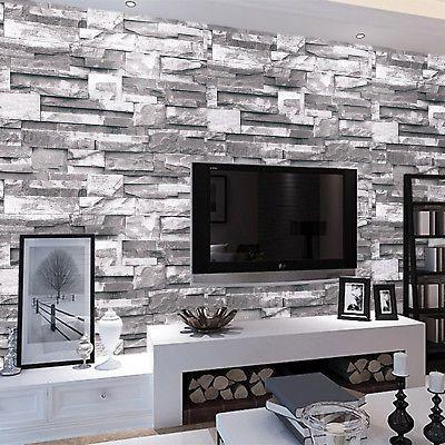 Die besten 25+ Wandgestaltung 3d optik Ideen auf Pinterest - stein tapete schwarz wohnzimmer