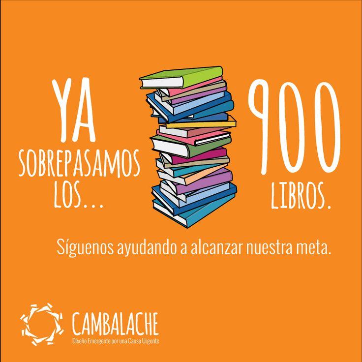 ¡SUPERAMOS LOS 900 libros gracias a Tu ayuda, SIGAN APOYANDONOS!