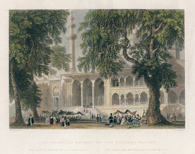 Turkey, Istanbul, Mosque of the Sultana Valide, 1838