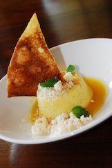 Sweet Tooth Anyone?  #Dessert Mango Pudding – Senbei, Lumpia Crisp       #StarNoodle   286 Kupuohi Street  #Lahina