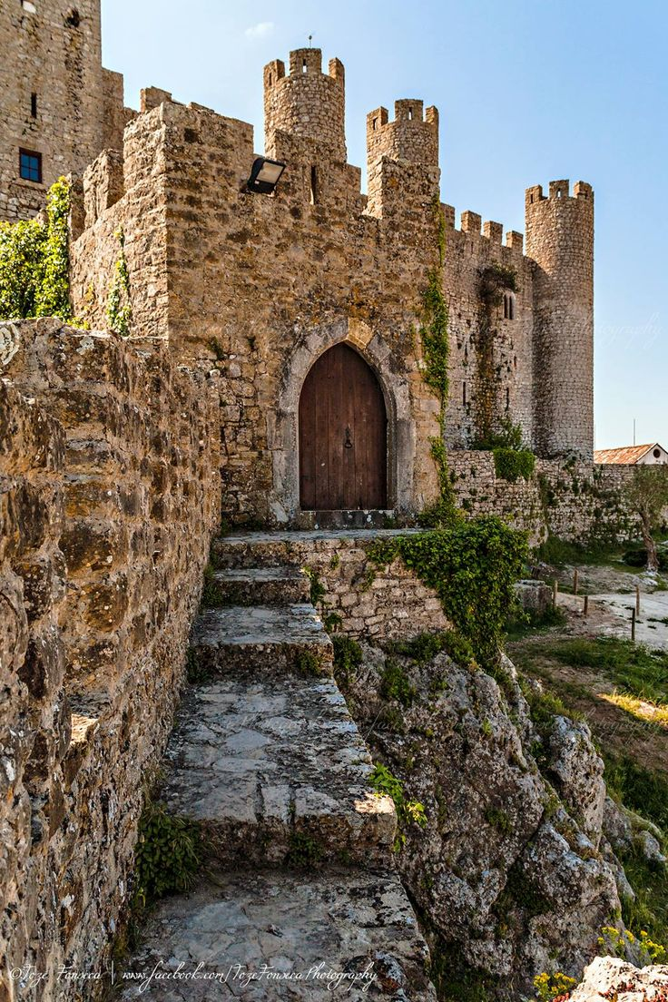 Obidos Castle and it's medieval walls still surrounding the existing village, Portugal