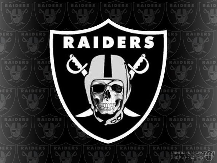 raiders skull logo raider nation pinterest skulls