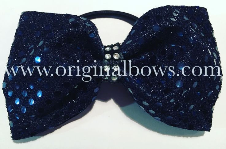 Tailless Navy Blue Bling Cheer BOW