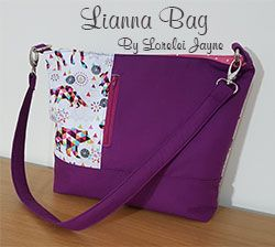 Lianna bag sewing pattern. a great beginner everyday tote sewing pattern.
