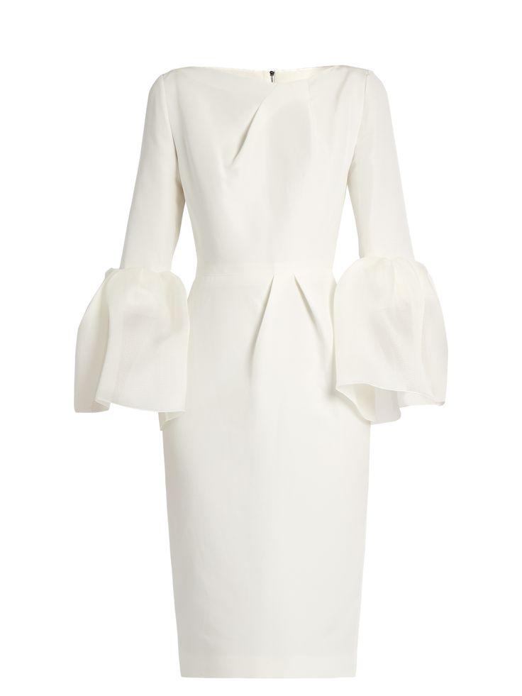 Margot bell-sleeved dupion dress | Roksanda | MATCHESFASHION.COM US