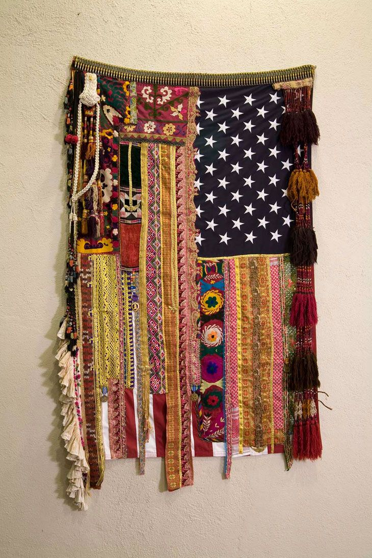 mixed media textile | Flag #19  'Memories Without Recollection' by Sara Rahbar http://www.sararahbar.com/index.php?page=20