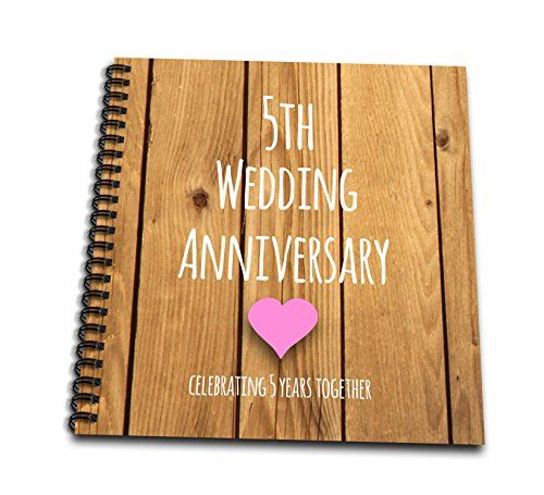 3dRose Db 154433 1 5th Wedding Anniversary Gift Wood Celebrating 5 Years Together Fifth Anniversaries Five Drawing