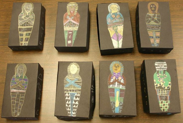Kids love mummies and the Egyptian Sarcophagus is such a beautiful art form. This was an irresistible combination for my students. For more info, please visit https://www.facebook.com/photo.php?fbid=436343119720597&set=pb.194767790544799.-2207520000.1390137696.&type=3&theater