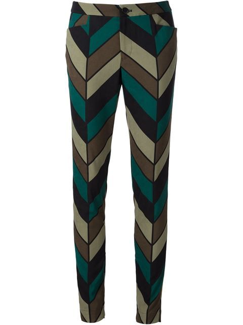 Shop Issey Miyake chevron print trousers in ODD. from the world's best independent boutiques at farfetch.com. Shop 300 boutiques at one address.